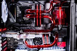 carbon dark red showcase